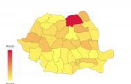 ROMÂNIA - Numar de cazuri pe judete